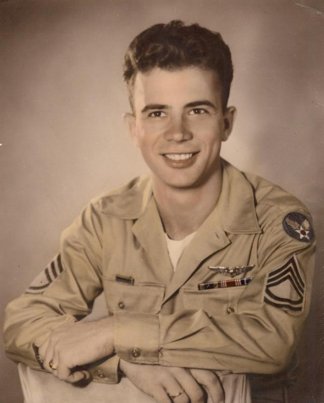 T. Sgt. Byron L. Wertz, Crew #552 - Harry Taylor Crew 466th BG - 785th BS . Born,  Jeannette, Pennsylvania, 12 August 1924. Died, 14 August 1997, Greensburg, Pennsylvania. Flew 25 missions from August, 1944 to April, 1945. 22 missions on The Falcon and 3 missions as a replacement crew member on other B-24's after crash of The Falcon on 8 January 1945.
