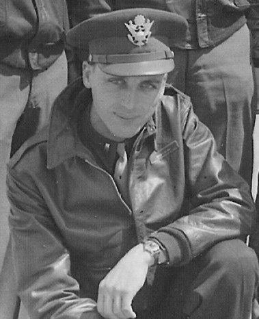 Navigator Frank Deimel in Topeka, Kansas, just before being sent overseas to England with the Henry H. Northrop crew.