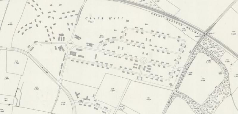 Likely location and layout of the camp revealed on this post war (1948) Ordnance Survey map.