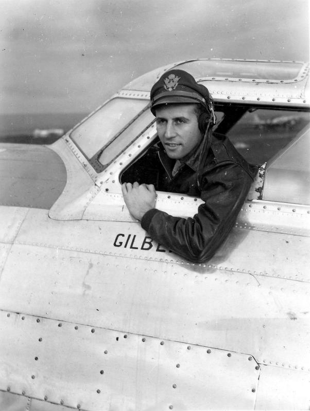 Capt. Maurice Joondeph of the 340th BS, 97th BG photographed upon the completion of his 50th combat mission.