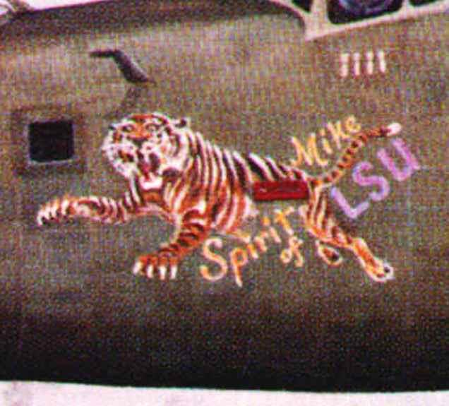 Nose art of B-24H 42-52764. The B-24's official name was