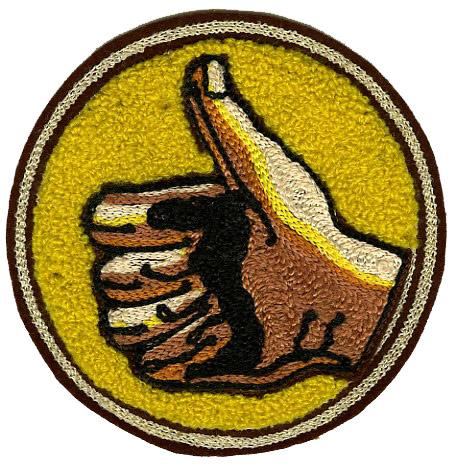 """Insignia of the 453rd Bomb Squadron """"Thumbs Up"""""""