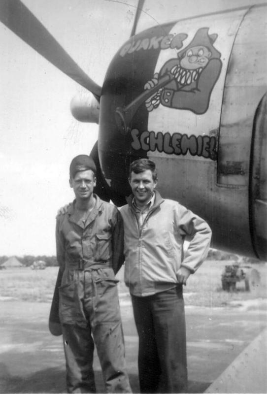 Lt. Walter R Frederick, [ Plymouth Meeting, PA ]. 63rd Fighter Squadron. P-47D 42-26059 UN-I