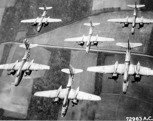 Douglas A-20 Havoc bombers of the 410th Bombardment Group