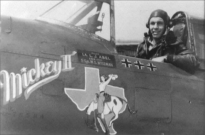 Lt. Luther J Abel, [Gladwater, TX]. 84th Fighter Squadron. P-47D 42-75684 WZ-H