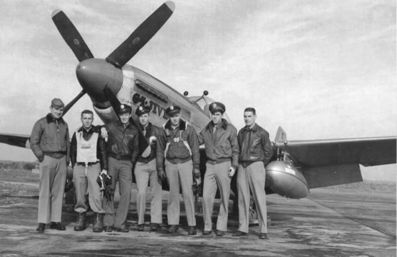 1st Scouting Force pilots in front of William A Cox's