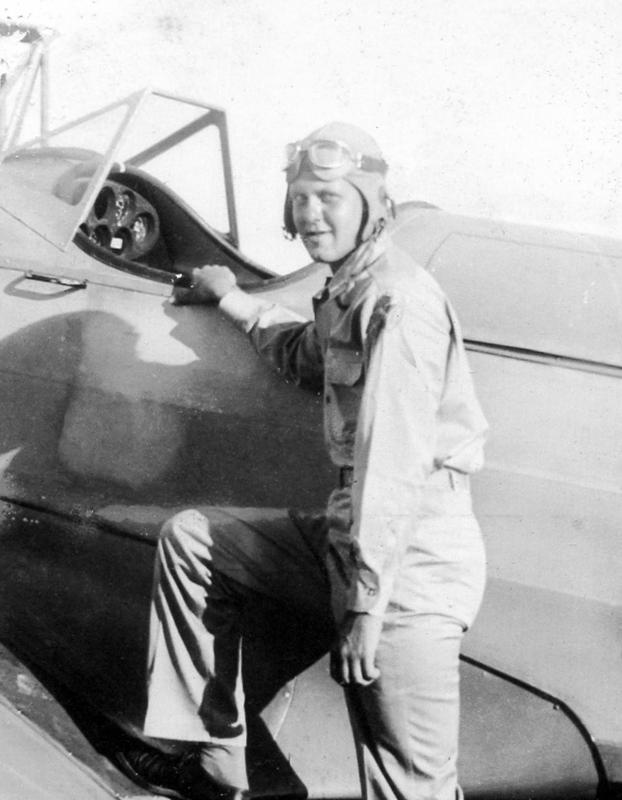 This is Claire Walter Eclov, staff sergeant 3rd grade,  who was a radio operator with the 466 bomb group and flew on the