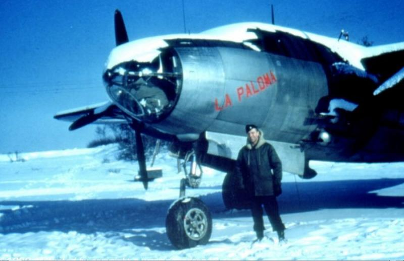 USAAF 43-34210 B-26G Marauder AN-V 'La Polma' assigned to the 553rd Bombardment Squadron of the 386th Bomb Group