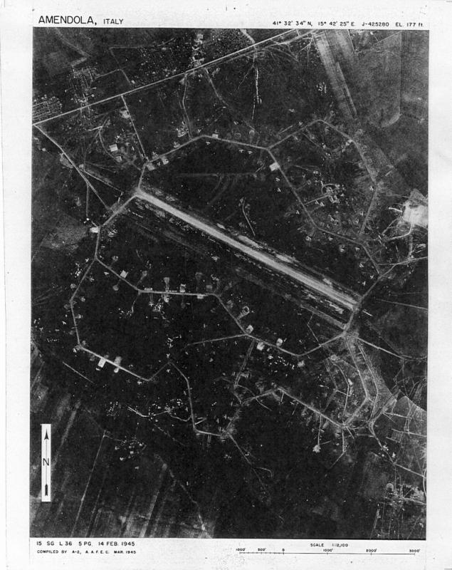 Amendola Airfield, Italy February 1945  Home of the 2nd BG and 97th BG of the 15th AF