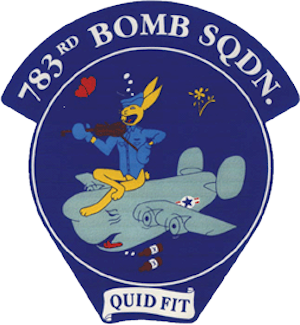783rd Bomb Squadron emblem The 783rd BS was part of the 465th BG - 15th AF stationed at Pantanella Airfield