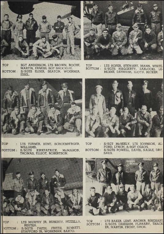 Page 18 of the 93rd Bomb Group unit history. Many of the 8th Air Force Groups produced an unofficial unit history in the months after the war ended in Europe but before they were redeployed out of the ETO (European Theater of Operations).   Resembling a college yearbook, unit histories were an unofficial – and often tongue-in-cheek – record of the unit's time based in the UK. They include photo montages showing different aspects of base life. Often the servicemen in the photos are unnamed. The American Air Museum hopes that by adding unit histories to the website as individual pages, the men in the photos will be identified and associated to their person entries. Many included lists of personnel and a mailing address, providing a means for servicemen to keep in contact with each other after the war. These lists are now incredibly useful records of where US airmen in England in 1945 called their home.