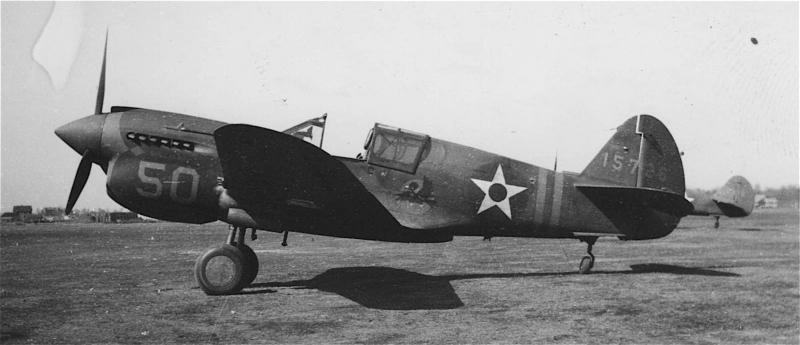 P-40E-CU #41-5726 57th Fighter Group   This a/c did not go overseas with the 57th FG