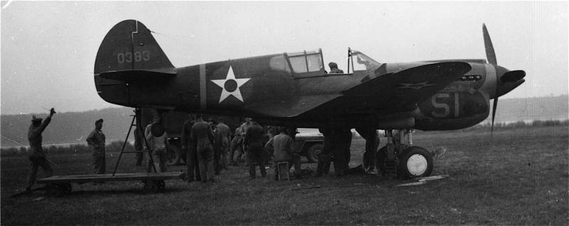 P-40E-CU #40-393  Code: #50 57th Fighter Group - 65th Fighter Squadron  This a/c did not see combat with the 57th FG