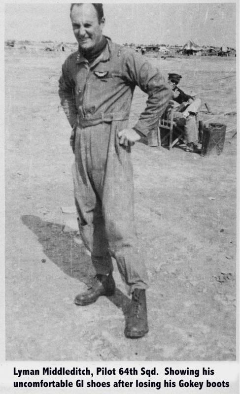 Captain Lyman Middleditch 57th Fighter Group - 64th Fighter Squadron Middleditch was the first USAAF in the ETO/MTO to score three aerial victories in one mission.  He finished the war as a 5 victory ace.