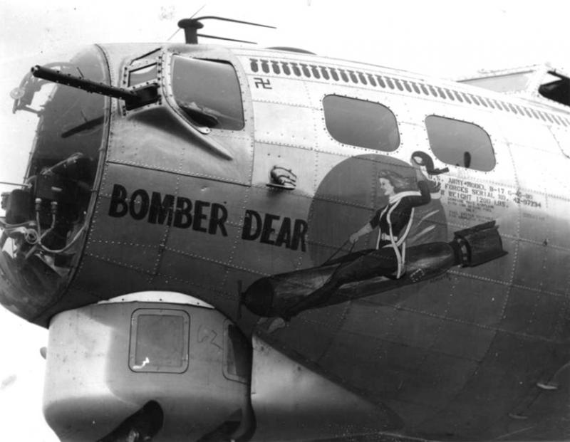 42-97234 Bomber Dear nose art painted by Tony Starcer