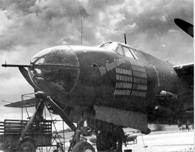 Martin Marauder B-26B 41-31755 554th BS, 386th BG, 9th AF. Written off after crash-landing in France on October 7,1944.
