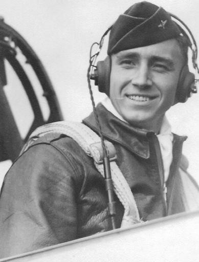 Lester Allen Wise, 1st. lieutenant, U.S. Army Eighth Air Force,  Pilot of B-17 bomber,  385th Bomb Group, stationed at Great Ashfield, England, World War Ii