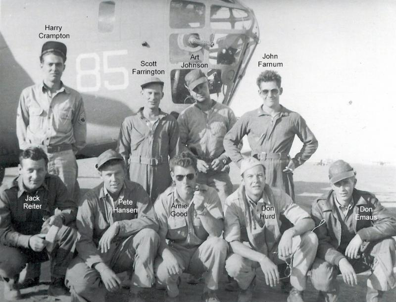 Crew of the 'Dopey Goldberg' which participated in the Ploesti Raid (Operation Tidal Wave).