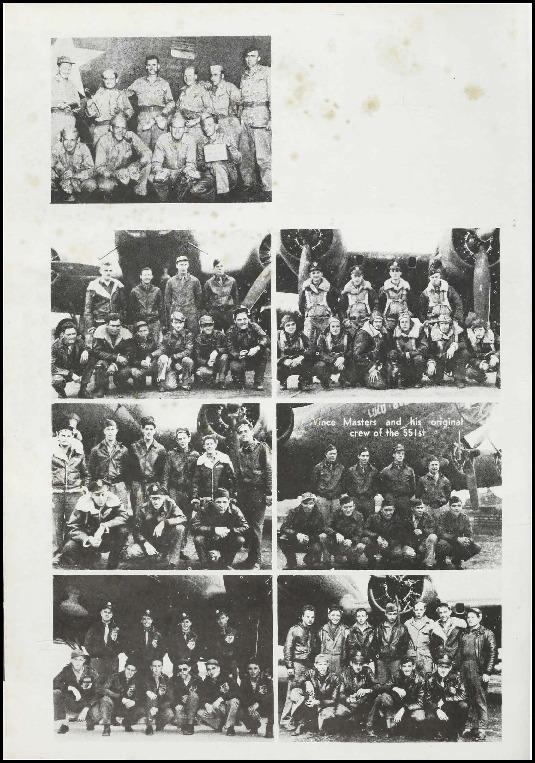 Page 117 of the 385th Bomb Group unit history. Many of the 8th Air Force Groups produced an unofficial unit history in the months after the war ended in Europe but before they were redeployed out of the ETO (European Theater of Operations).   Resembling a college yearbook, unit histories were an unofficial – and often tongue-in-cheek – record of the unit's time based in the UK. They include photo montages showing different aspects of base life. Often the servicemen in the photos are unnamed. The American Air Museum hopes that by adding unit histories to the website as individual pages, the men in the photos will be identified and associated to their person entries. Many included lists of personnel and a mailing address, providing a means for servicemen to keep in contact with each other after the war. These lists are now incredibly useful records of where US airmen in England in 1945 called their home.