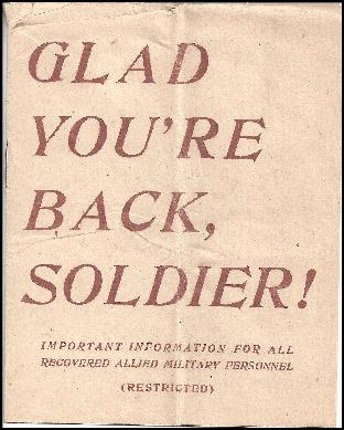 RAMP (Recovered Allied Military Personnel) brochure issued to S/SGT Neil Brennan after liberation from LuftStalag 17B,  25 April 1945.