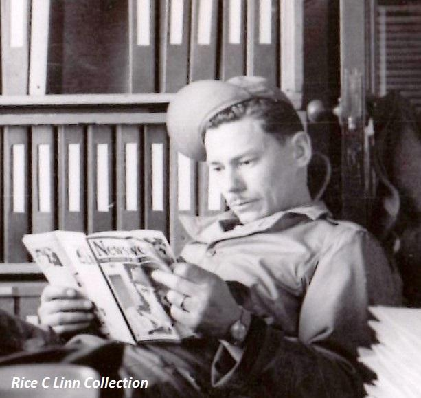 MSgt. J. O. Curtis, Chief Armament Inspector, Air Inspectors Office, 91st Bomb Group (H), AF Station 121, Bassingbourn, England, circa 1944.  None on back of photo