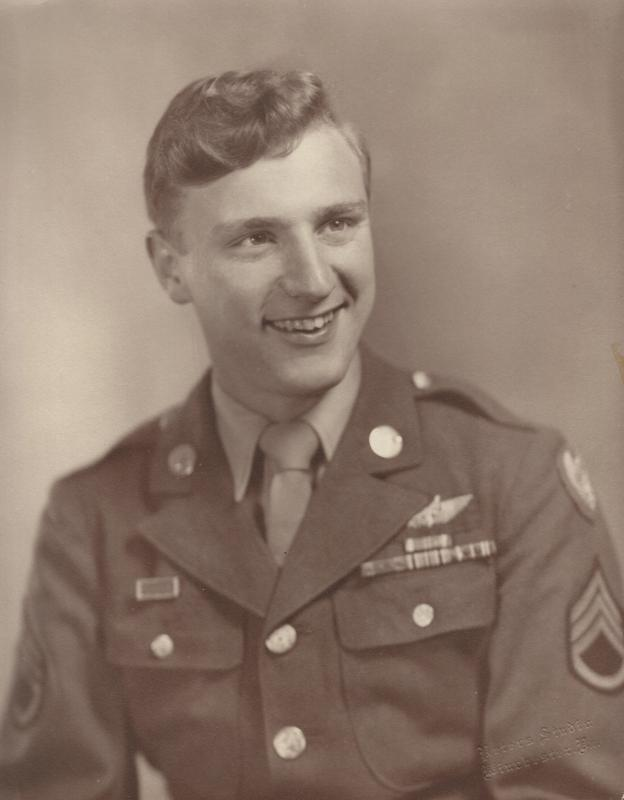 Photo of S/Sgt Alan W. Sturm.  Photo likely taken sometime after May 1945.