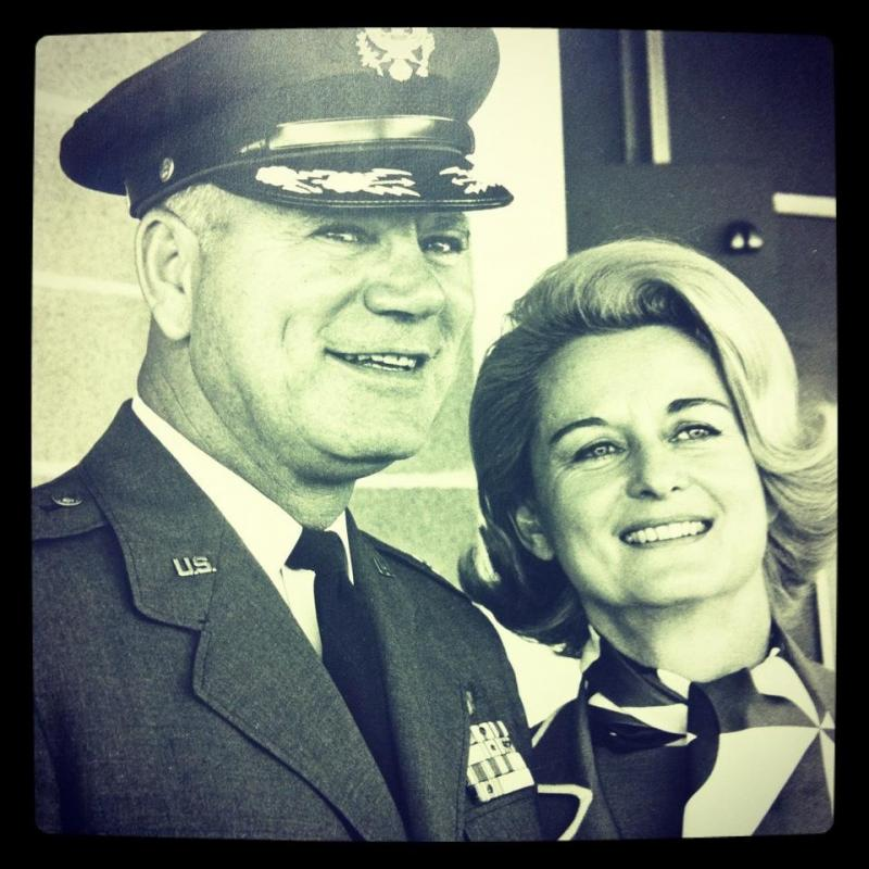 Nephi Berkenpas with his wife, Madeline Berkenpas, recipient of the Air Force Wife of the Year Award.