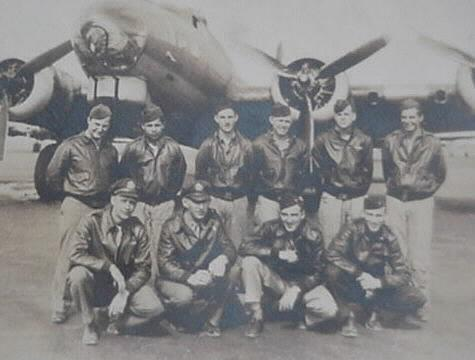 Captain Abel Winfield Dahlgran,  447th Bomb Group and his crew at Rattlesden. Winfiled is on front row, left.