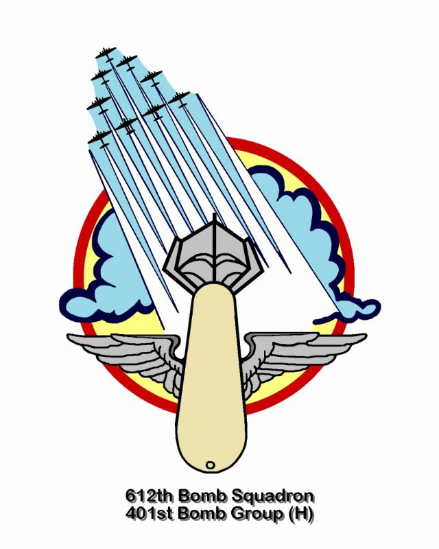 Insignia of the 612th Bomb Squadron, 401st Bomb Group