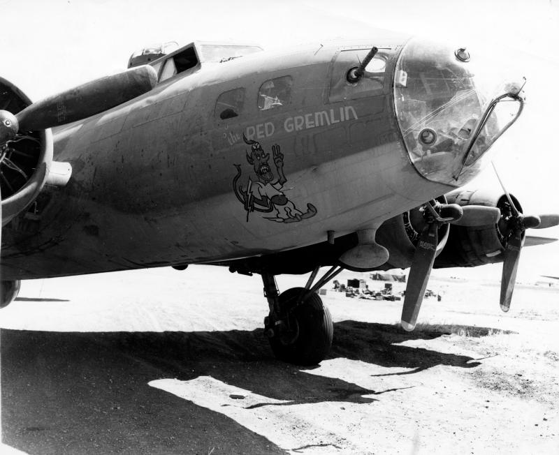 Front fuselage of the B17 41-24444, The Red Gremlin