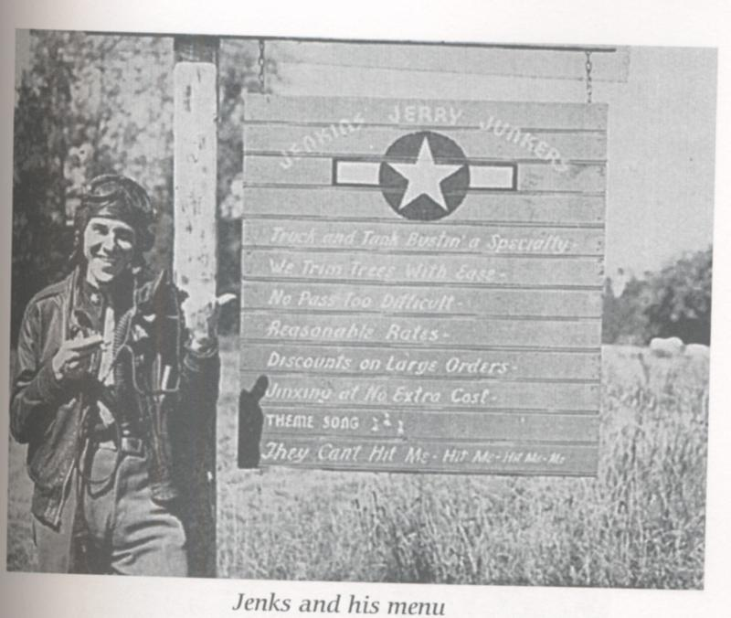 Ralph Jenkins and his Menu of services offered through his 405th P-47 Fighter Squadron