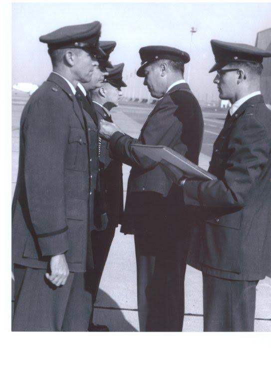 Lt. Colonel Clifford Leroy Hanks retirement from Beale AFB, California 1965.  WWII veteran.