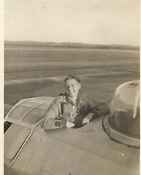 2LT Calvin T. Morton - Co-Pilot Elmer S. Anderson Crew - Crew #778 466th BG - 787th BS This photo was taken at Westover AAF in November 1944