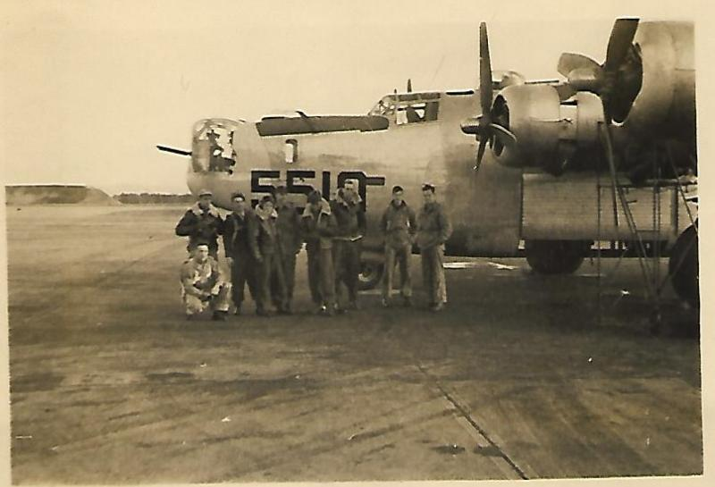 B-24J-1-FO #42-95510 Elmer Anderson Crew who would soon be assigned to the 466th BG
