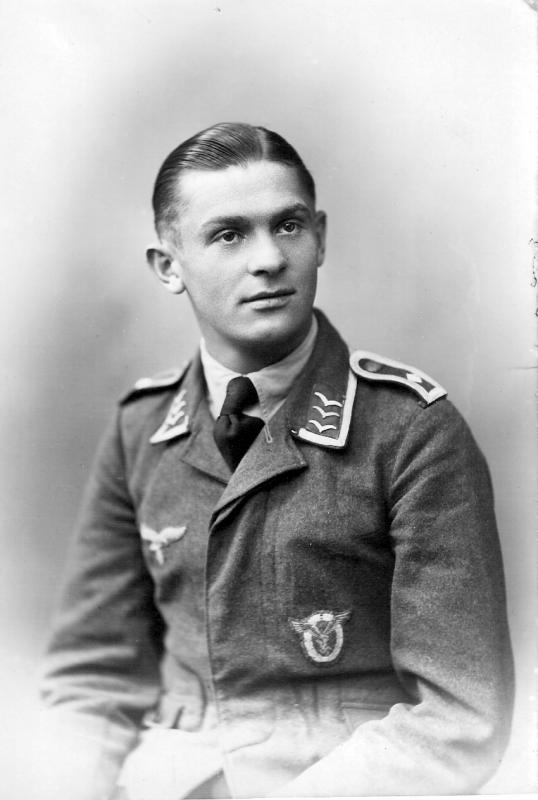 Feldwebel (sergeant) Helmut F Brinkman (* 13 June 1920)  who was shot down with his Me-109 by the tail gunner of A/C 42-3436 Dominic C Lepore.  Brinkman went missing after he crashed in a field near Chevremont (NL) on 14-10-1943.
