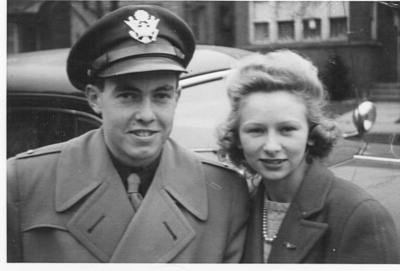 My Dad, Karl Eisele, Jr. and Mom (Janet Eisele) marrying in Boise, Idaho as Dad was stationed at Mountain Home Air Force Base in Idaho shortly before going to England to bomb the Reich.