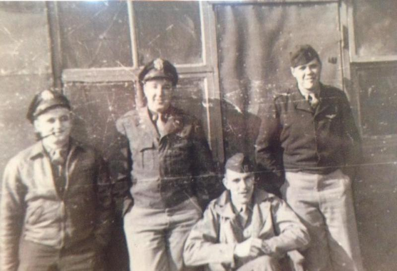 Capt. Earl W Reynolds with his Officers at Debach