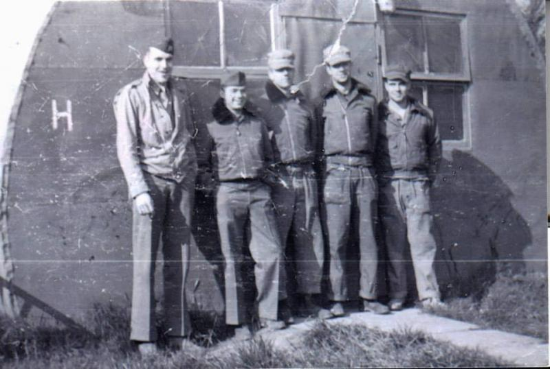 Capt.Earl W Reynolds and the enlisted men on his crew  Debach 1945