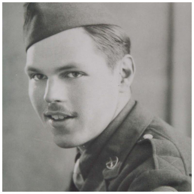 Donald W O'Reilly, Military Policeman, 491st Bomb Group.   Photo taken in the Red Cross club at Rainbow Corner, near Piccadilly Circus.