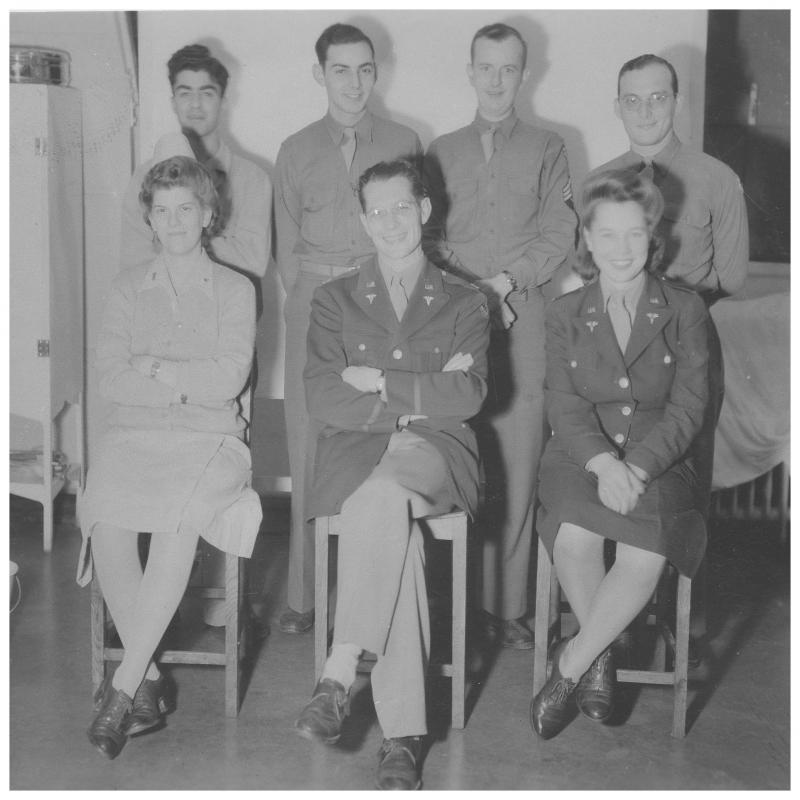 Dr. William Bridgers, 65th General Hospital, front row centre.