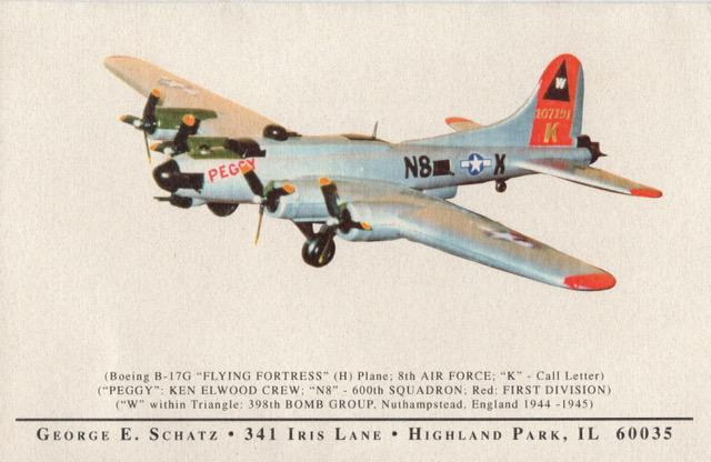 B-17G-DL 42-107191 model from collection of the Late George Schatz, bombardier