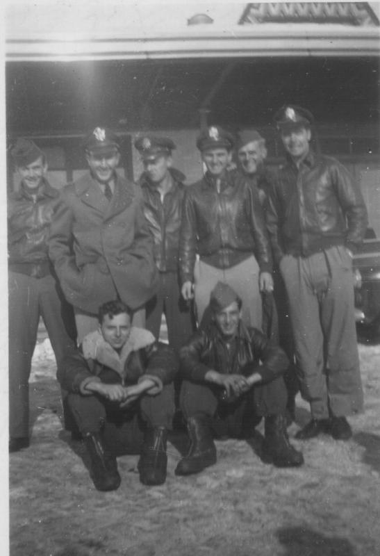 Bruckman Crew - December 1944 - Pittsburgh PA:  Front (left to right): John A. Collette; Edmund C. Shibble  Rear (left to right): Byron A. Schlag; Ivan M. Gerwig; Edward