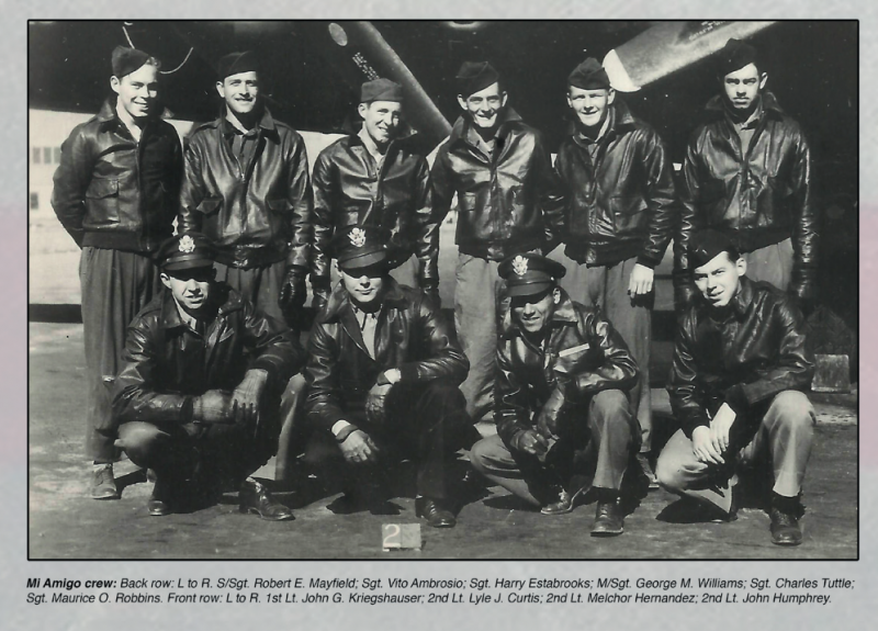 The crew  of B-17 Flying Fortress (serial number42-31322 ) nicknamed