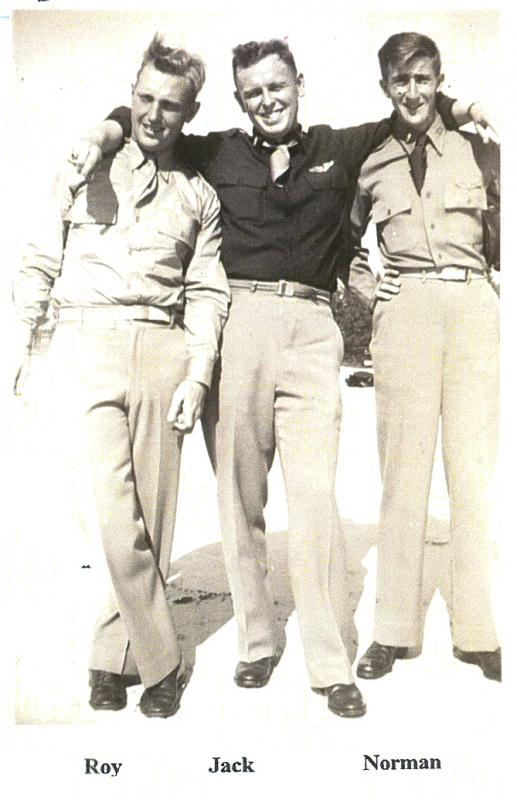 Roy Holmberg,  Jack Pelton and Norman T. Brown, 390th Bomb Group, 570th Bomb Squadron.
