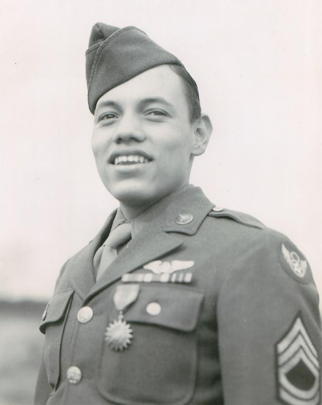 Placido B. Andrade, top turret gunner assigned to 42-39972,