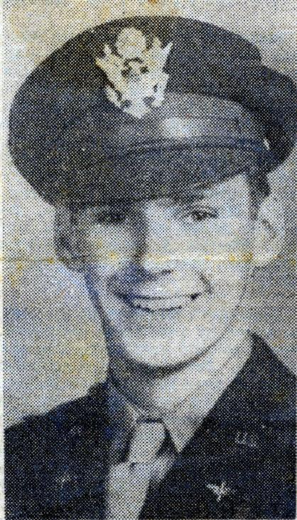 Photo from a newspaper article March 29, 1945 announcing his promotion to 1st Lieutenant
