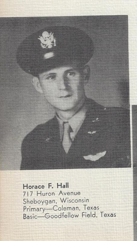 2LT Horace F. Hall Co-PIlot Crew #710 - Warren Allender Crew 466th BG - 787th BS Shot down on his 9th mission, he was captured and made POW at Stalag Luft III