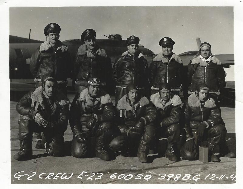 Then 1LT William F. Nee back row, far left.  This photo had to be taken on 11 Dec 1943 at Rapid City, South Dakota, after completing flight training and on the way to England.  Bill Nee entered service 10 Sept 42 and was shot down on 24 May 1944.
