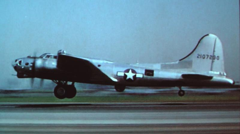 Brand new, taking off from the Douglas plant in Long Beach, CA. Still frame from the film An American Romance.