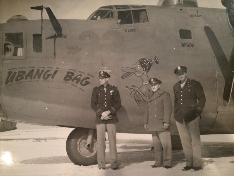 The B-24D-20-CO, Liberator bomber,  'Ubangi Bag'  -  SN #41-24194  -  14th Air force - 308th Bomb Group - 374th Bomb Squadron.  Col. K.K. Compton, left side photo.  Lt. John S. Young, right side photo. Lt. Young and the airplane went on War Bond Tour 1943 - 44